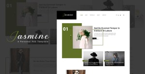 Jasmine - Ultimate Personal Blog PSD Template