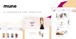 Muno – E-commerce PSD Template