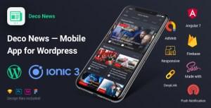Nouvelles déco-Ionic 3 Mobile App pour WordPress, angulaire 7, Sass, Firebase, AdMob, DeepLink