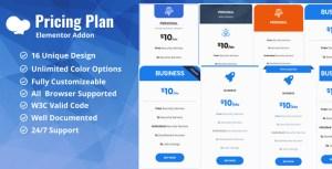 Plan tarifaire/prix table WpBakery addon plugin