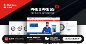 PneuPress - Tire Shop and Car Repair WordPress Theme