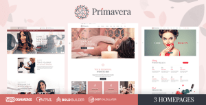 Primavera - Beauty Salon, Hairdresser & Spa WordPress Theme