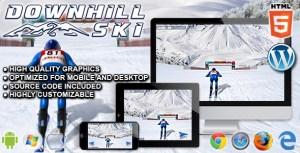 Ski alpin-jeu de sport HTML5