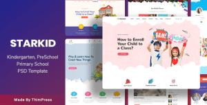 StarKid - Kindergarten & Day Care PSD Template