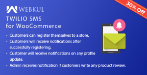 Twilio SMS notification pour WooCommerce