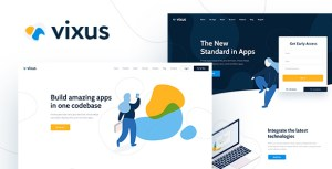 Vixus | Startup & Mobile App WordPress Landing Page Theme