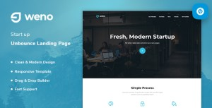 Weno - Startup Unbounce Landing Page Template