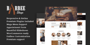 Barbee | Responsive Barber Shop & Hair Salon WordPress Theme