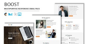 Boost - Multipurpose Responsive Email Template With Stamp Ready Builder Access