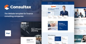 Consultax | Finance Consulting PSD Template