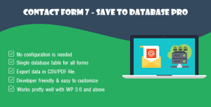 Contact Form 7 - Save to Database Pro