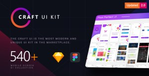 Craft | A Multipurpose and Multi Business Mobile UI Kit