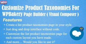 Customize Product Taxonomies For WPBakery Page Builder