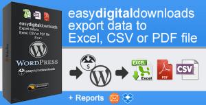 EasyDigitalDownloads Export