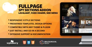 Fullscreen Spy Sections With Menu Addon for WPBakery Page Builder (formerly Visual Composer)