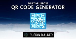 Fusion Builder Multi-Purpose QR Code Generator Element Addon for Avada v5