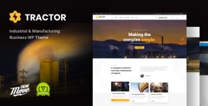 Industrial Tractor - Industrial, Industry & Manufacturing WordPress Theme