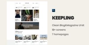 Keepling – Blog&Magazine PSD template and UIkit