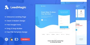 LeadMagic - Lead Generation Unbounce Landing Page Template