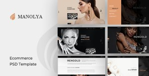 Manolya - PSD Template