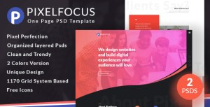Pixelfocus - One Page PSD Template