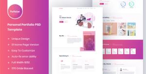 Portfolion - Personal Portfolio PSD Template