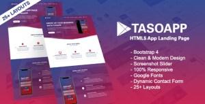 Tasoapp-App Landing Page