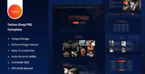 Tattart – Tattoo Shop Website PSD Template