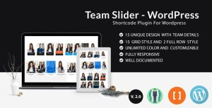 Team Slider - Team Member Showcase Short code - For WordPress