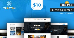 Tracton - Industrial/ Manufacturing PSD Template