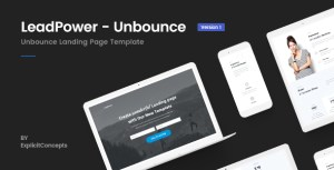 Unbounce Landing Page Template - LeadPower