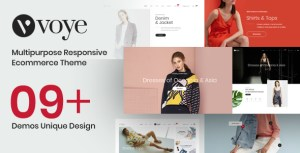 Voye - Multi Purpose Fashion Ecommerce PSD Template