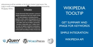Wikipedia Tooltip (Summary, Image) for Keywords in Wordpress (Pages, Posts)