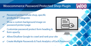 WooCommerce Password Protected Categories, Products & Shop Plugin