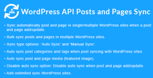 WordPress API Posts and Pages Sync with Multiple WordPress Sites