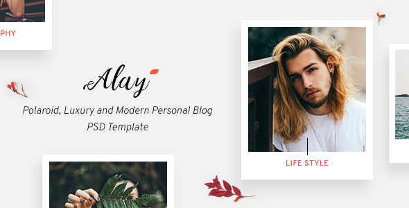 Alay – Polaroid, Luxury and Modern Personal Blog PSD Template