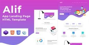 Alif - App Landing Page HTML Template