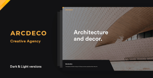 Arcdeco - Creative Agency HTML5 Template