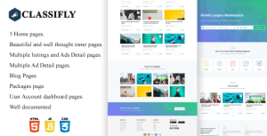 Classifly - Classified Ads HTML Template