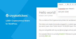 Cryptocurrency Tickers - 1,000+ Crypto Price Tickers for WordPress