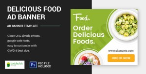 Delicious Foods - Google HTML5 Animated Banner 03
