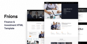 Fnions - Finance and Business Consulting HTML Template