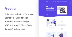 Freesia - Responsive HTML Blog Site Template