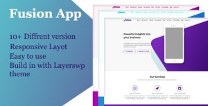 Fusion App - Layers WordPress Style Kit