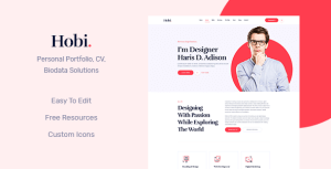 Hobi - One Page Personal Portfolio HTML5 Template