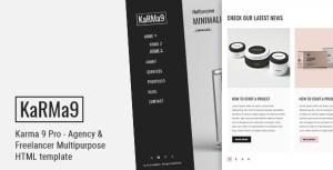 Karma 9 Pro - Agency & Freelancer Multipurpose HTML Template