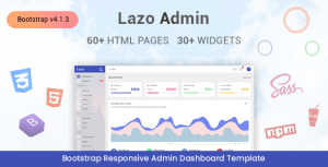 Lazo - Responsive Admin Dashboard Template
