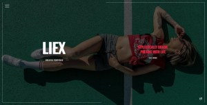Liex - Creative One Page Portfolio Template