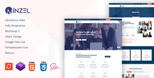Minzel - Business Consulting & Finance HTML5 Template