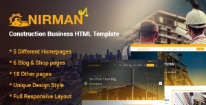 Nirman - Construction Business HTML Template